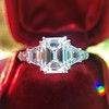 3.43ctw Emerald Cut Diamond 5-Stone Ring by Leon Mege, GIA F SI1 14