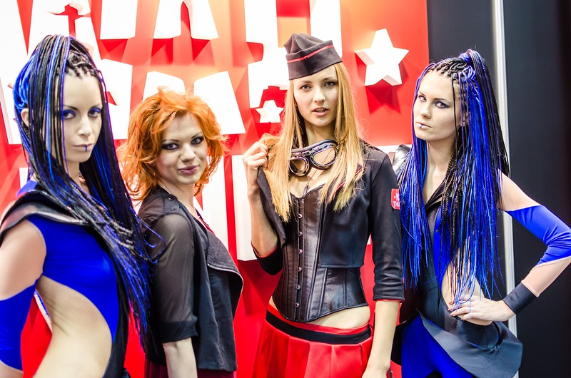 Girls at Igromir 2012
