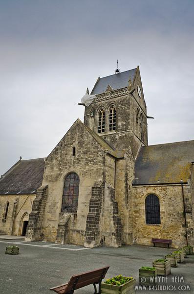 Sainte-Mere-Eglise Church 2   Photography by Wayne Heim
