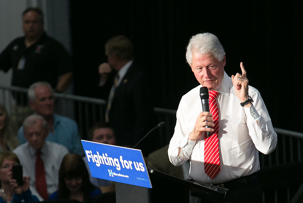 President Bill Clinton In Asheville, NC 2016