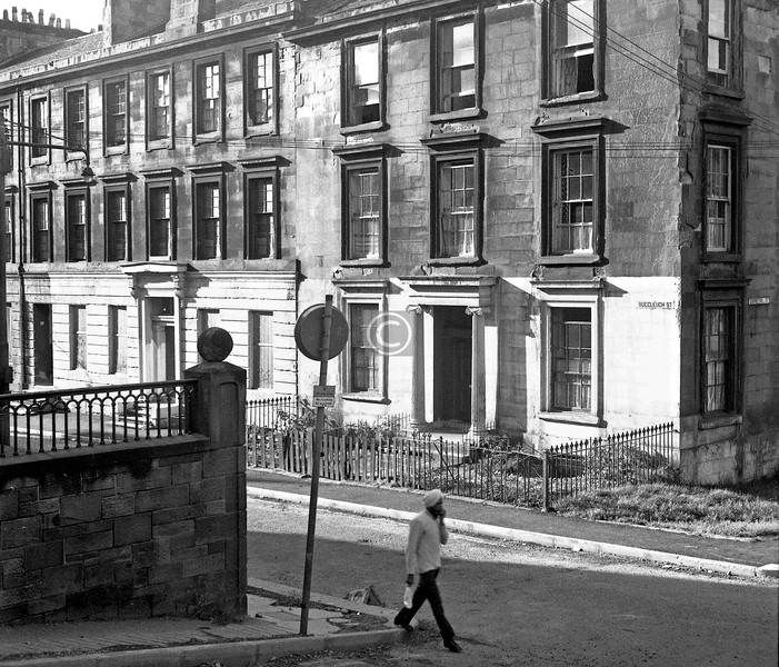 Buccleuch St., north side west of Garnethill St.  August 1974