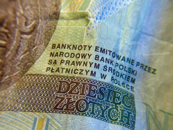 Polish currency close up ten zloty. Photo credit: Chris RubberDragon
