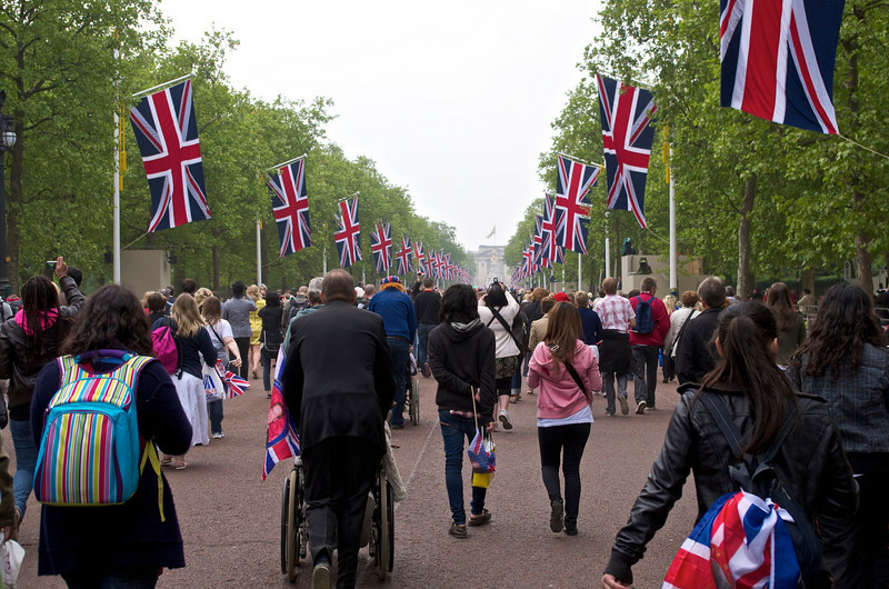 Royal Wedding – the Mall to the Palace.
