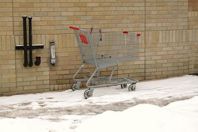 Littered Shopping Cart, North Nescopec St, Tamaqua (1-30-2011)