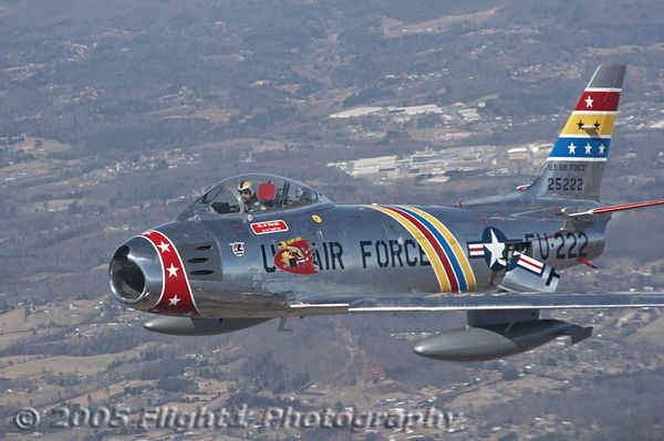 Air-to-Air F-86 and T6/SNJ