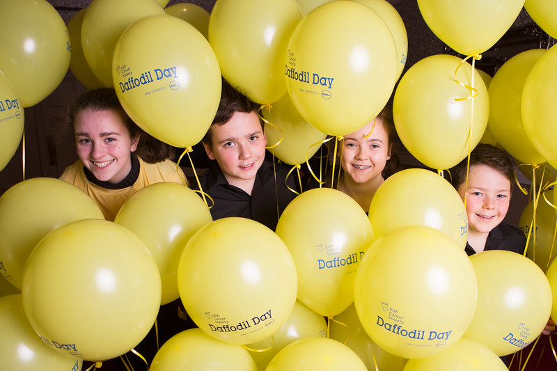 DKANE 30/01/2016 REPRO FREE Irish Cancer Society Volunteers Saoirse Walsh, Naoise, Siomha and Art Marron at the launch for the Irish Cancer Society's  Cork Daffodil Day in the Vienne Woods Hotel. Daffodil Day takes place nationally on the 11th of March. Thousands of volunteers around Ireland sell daffodil pins and flowers (on streets, in businesses, homes and shopping centres) to raise money for the Irish Cancer Society's free, nationwide services for those with, and affected by, cancer in Ireland. Daffodil Day is the biggest and longest running fundraising day for the Society, Ireland's national cancer charity.  - See more at: http://www.cancer.ie/get-involved/fundraise/major-fundraising-drives/daffodil-day#sthash.JOYwaqGI.dpuf PIC DARRAGH KANE