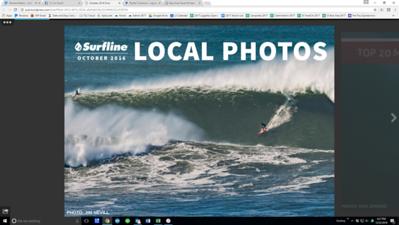 Cover Shot, October 2016 Surfline Local Pro eZine