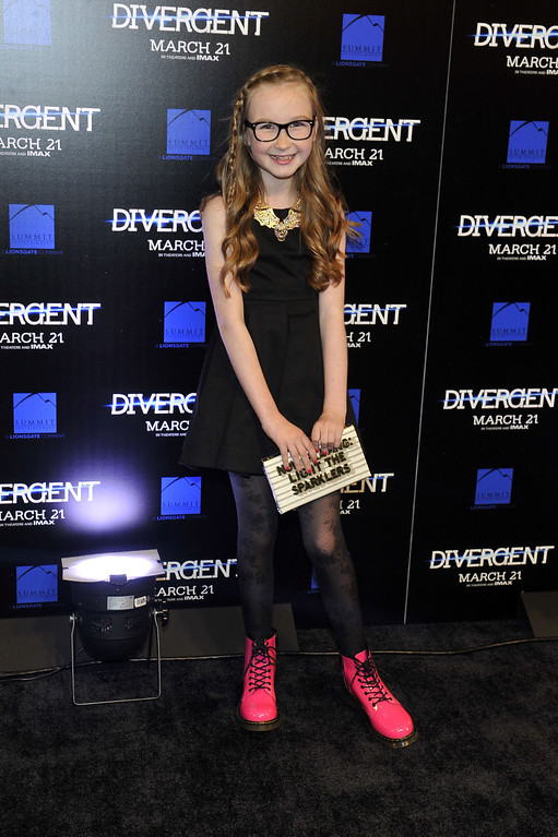 """. Actress Meyril Murphy attends the \""""Divergent\"""" screening at Regal Atlantic Station on March 3, 2014 in Atlanta, Georgia. (Photo by Moses Robinson/Getty Images)"""