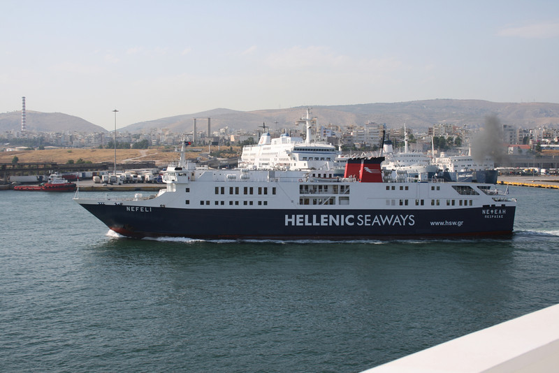 2011 - F/B NEFELI departing from Piraeus to Aegina.
