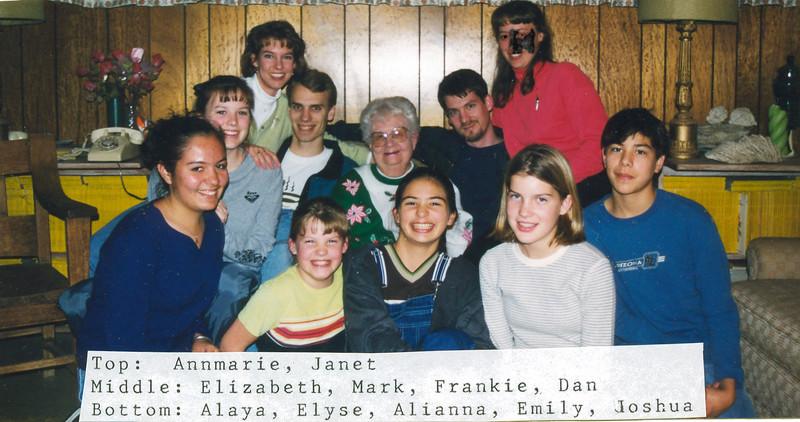 Grandma Frankie with her grandkids