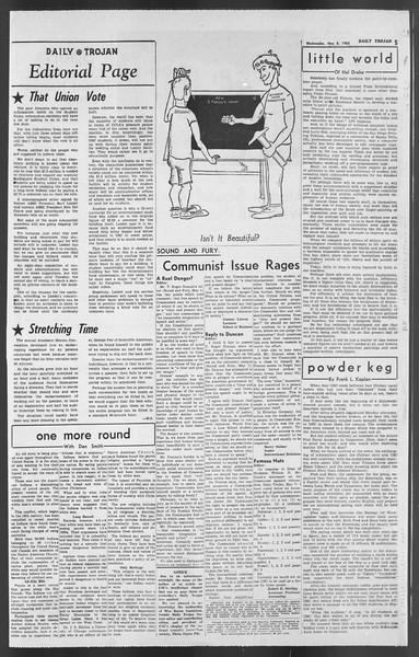Daily Trojan, Vol. 54, No. 114, May 08, 1963