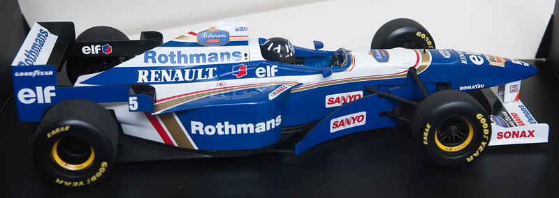 1996 #5 Williams Renault FW18 Damon Hill Williams Box (Race Livery) SOLD 1/12/14