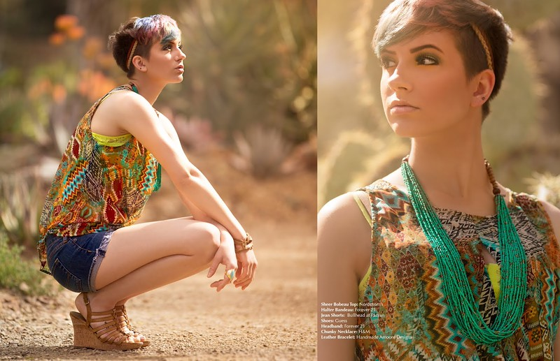 Publication in SALYSÉ http://www.salyse.com/) Photographer: Sam Breach  Stylist: Alexandra Moore  Make-up Artist: Laura Haught  Model: Karina Werner  Model: Ross Pavis Location: Ruth Bancroft Gardens, Walnut Creek, CA