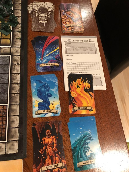 HEROQUEST CARDS