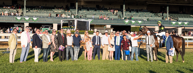 """Bowies Hero (Artie Schiller) wins the Shadwell Turf Mile (G1) a """"Win and You're In""""  Breeders' Cup Mile Division at Keeneland on 10.05.2019. Flavien Prat up, Philip D'Amato trainer, Agave Racing, ERJ Racing and Madaket Stables owners."""