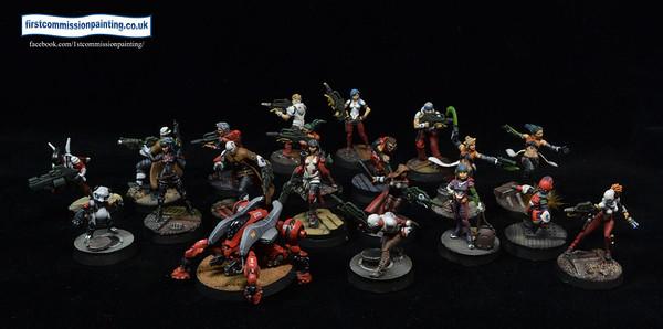 Sci Fi Miniatures games 40k, Infinty etc