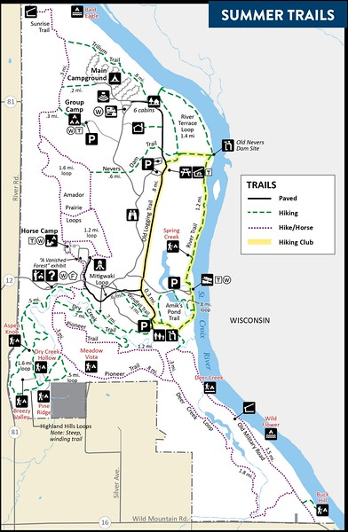 Wild River State Park (Summer Trail Map)