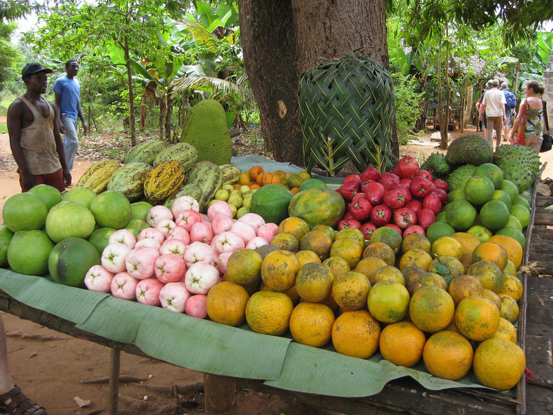 Fruit stand on the spice tour