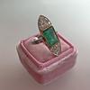 4.05ct Emerald and Old European Cut Diamond Ring 8