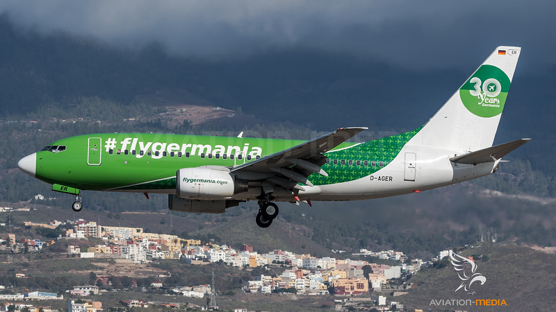 Germania / Boeing B737-75B / D-AGER / 30 Years Livery