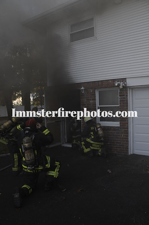 BETHPAGE FD ADAMs AVE HOUSE FIRE 10-25-13