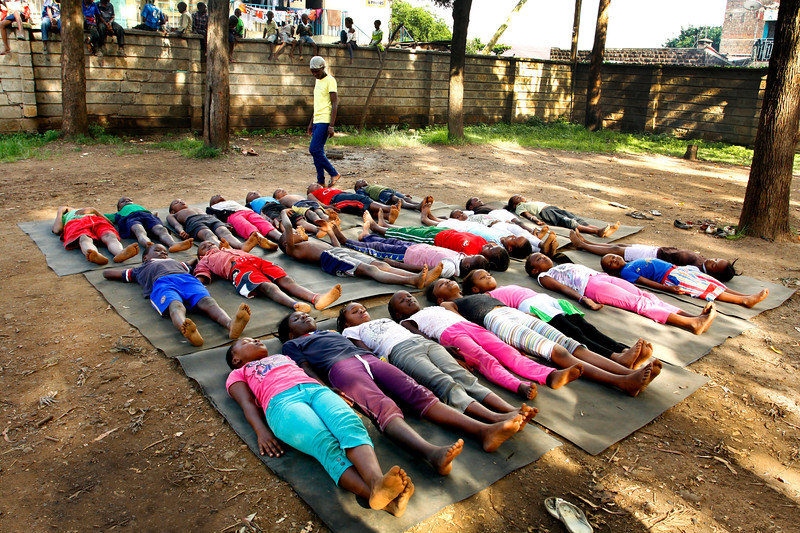 Savasana at the Children's Home ~ Nairobi, Kenya