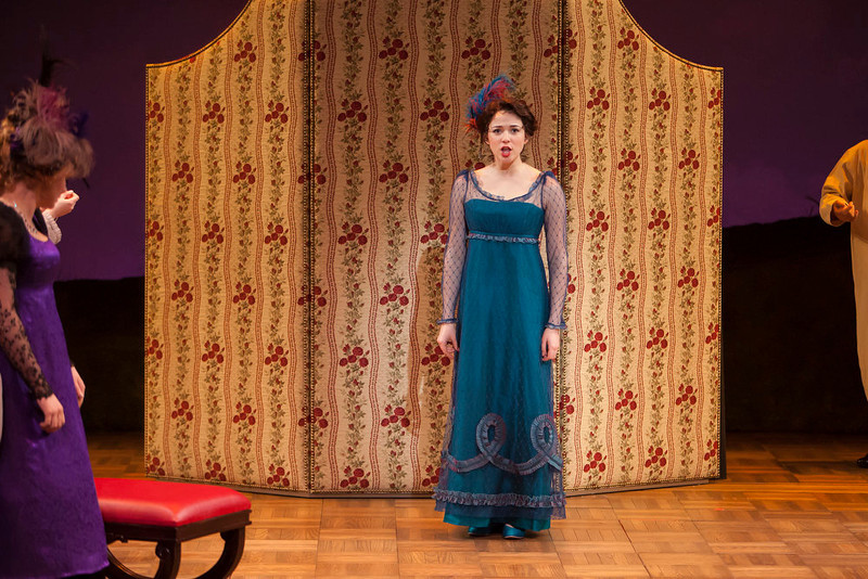 ". Stephanie Rothenberg as Miss Elinor Dashwood in ""Sense & Sensibility The Musical.\""   Photo by Jennifer M. Koskinen"
