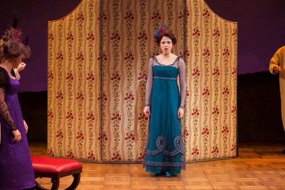 ". Stephanie Rothenberg as Miss Elinor Dashwood in \""Sense & Sensibility The Musical.\""   Photo by Jennifer M. Koskinen"
