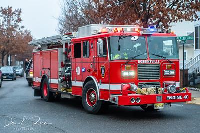 Santa Fire Truck Sleigh Ride