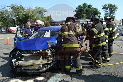 Copiague F.D. MVA w/ Entrapment  Montauk Hwy. and North Emerson Ave.  8/24/21