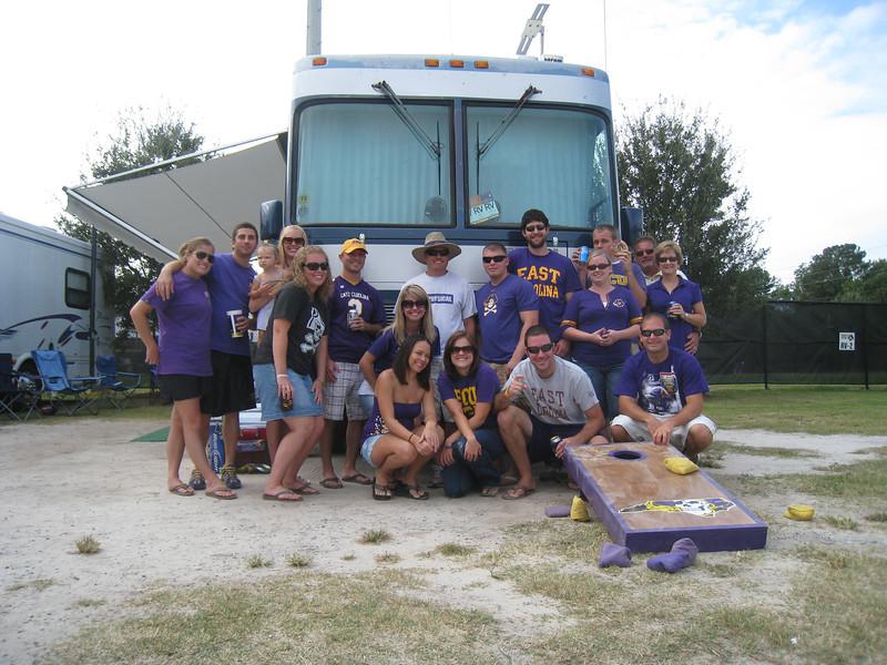 9/11/2010 - ECU vs. Memphis - Kristin, Billy, Staci, Lauren, Chris, Jen, JG, Missy, Robbie, Preston, Jess, Chuck, Jon