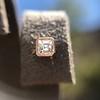 .52ctw Asscher Cut Diamond Bezel Stud Earrings, 18kt Rose Gold 28