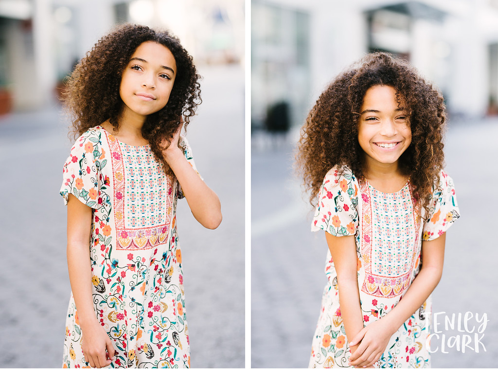 Kids model headshot portfolio session in Downtown San Jose by Tenley Clark Photography.