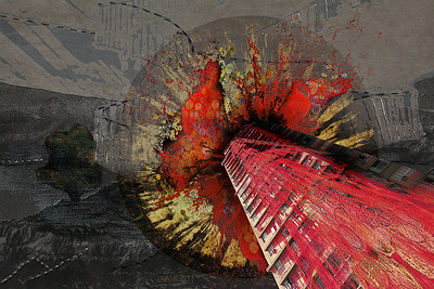 """Unlimited Progress XVII"" (digital collage) by Malavika Mandal Andrew"