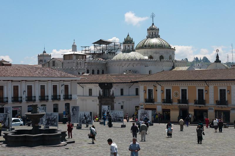 Plaza de San Francisco in Quito, Ecuador