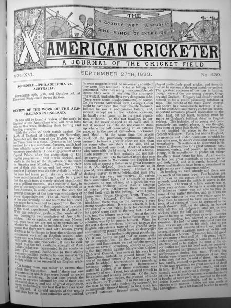 Australia 1893 World Tour