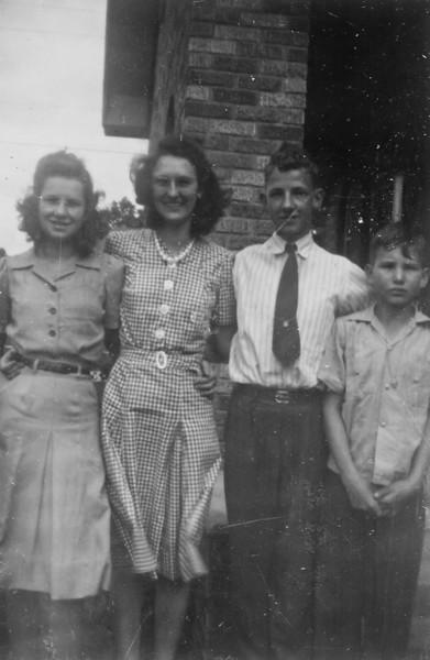 Maria Jacob, Frieda Jacob, Billy Seiffert, George Jacob, Jr. circa 1948