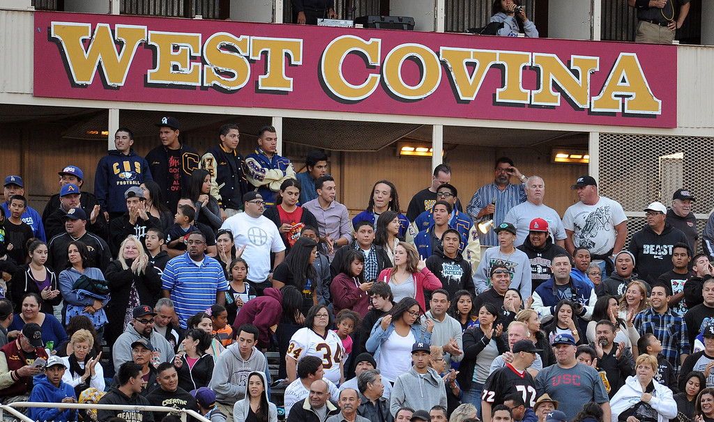 . A full house during the annual East vs. West San Gabriel Valley Hall of Fame all-star football game at West Covina High School on Friday, May 17, 2013 in West Covina, Calif. 