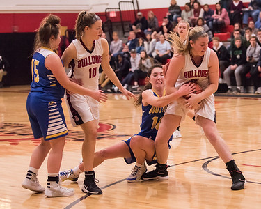 2019 Varsity Girls Basketball:  Hall-Dale vs Boothbay
