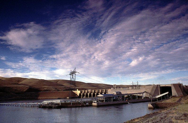 Little Goose dam on the Snake River, WA.