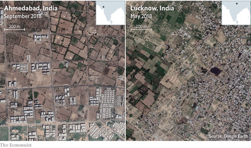 Ahmedabad and Lucknow