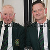 Greenore President, Joe Molloy pictured with his son Joe, Greenore Captain, at his presentation night on Sunday last.