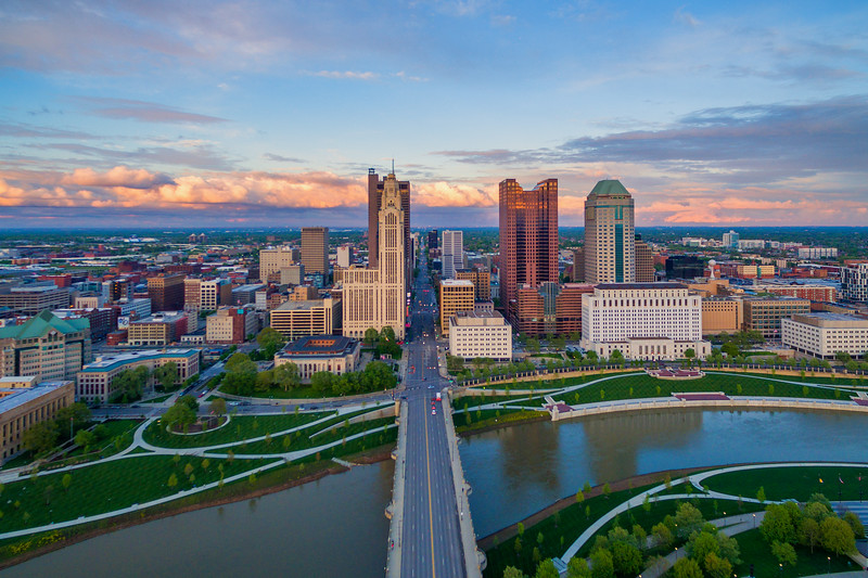 Over Columbus, Ohio