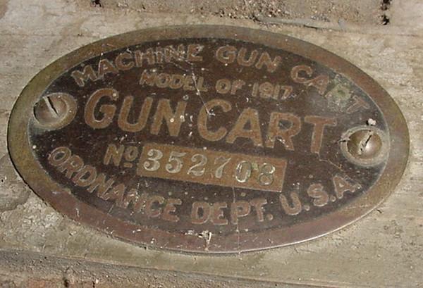 MODEL OF 1917 MACHINE GUN CART #352708