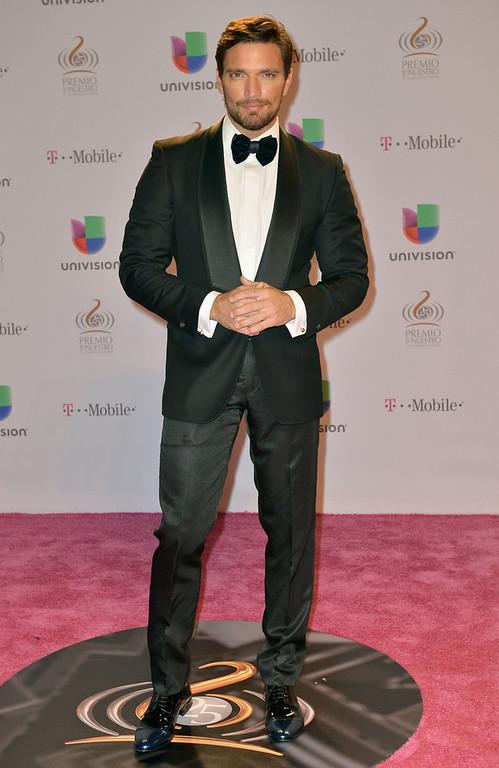 ". Julian Gil arrives at the 25th Anniversary Of Univision\'s \""Premio Lo Nuestro A La Musica Latina\"" on February 21, 2013 in Miami, Florida.  (Photo by Gustavo Caballero/Getty Images for Univision)"