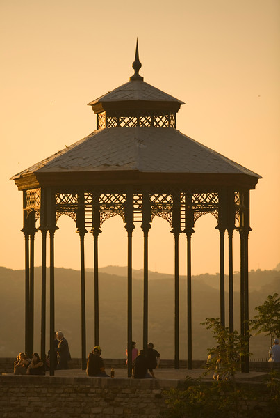 Bandstand by El Tajo gorge, town of Ronda, province of Malaga, Andalusia, Spain