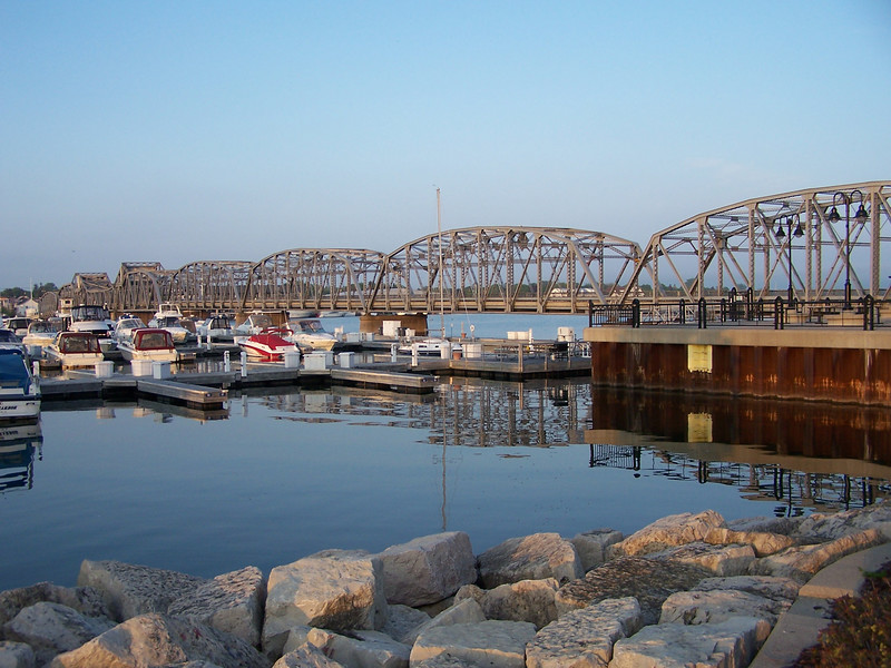 Sturgeon Bay's Michigan Street Bridge, a unique steel drawbridge.