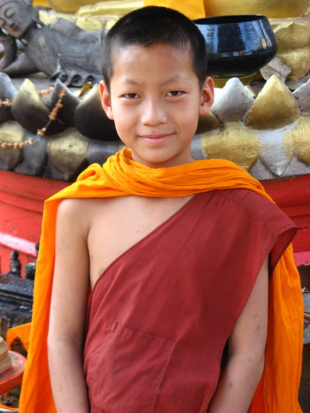 Novice monk at Wieng Khum Kham