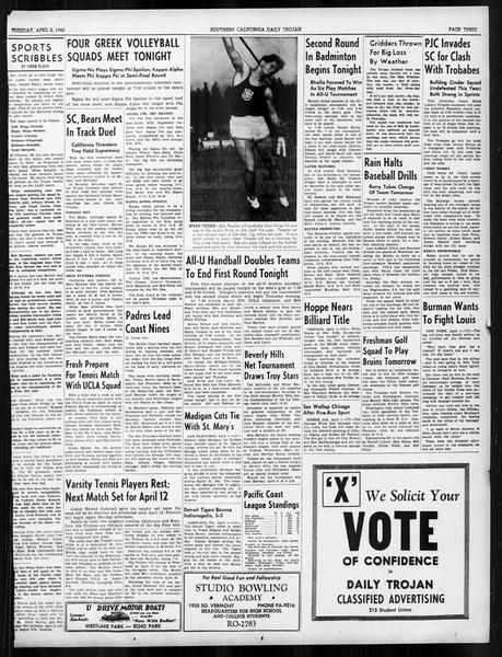 Daily Trojan, Vol. 31, No. 115, April 02, 1940