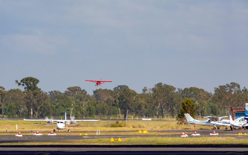 RAAF Beech 300 Super King Air 350 A32-675 Taking off from Rockhampton Airport 25-01-19.